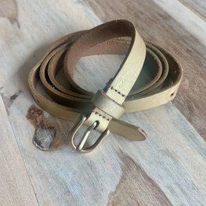 J. Crew Gold Leather Belt